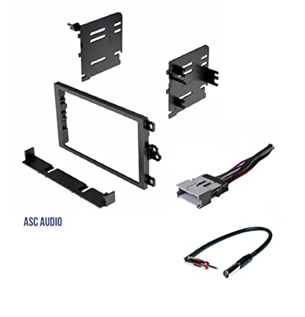 612nAW8PPoL._SY463_ amazon com asc double din car radio dash kit, wire harness, and  at readyjetset.co