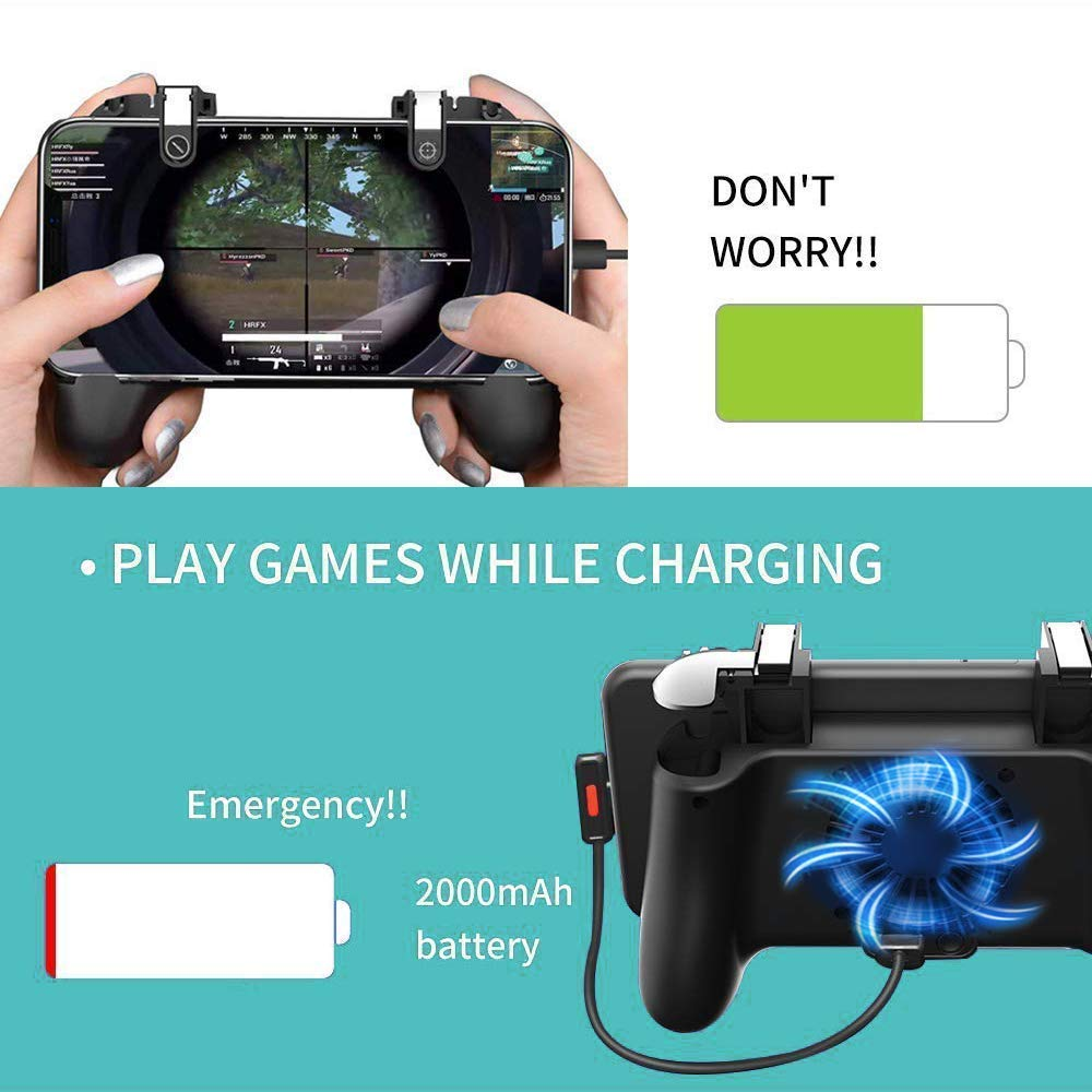 Mobile Game Controller [Upgrade Version] Mobile Gaming Trigger for PUBG/Fortnite/Rules of Survival Gaming Grip and Gaming Joysticks for 4.5-6.5inch Android iOS Phone by SVZIOOG (Image #1)