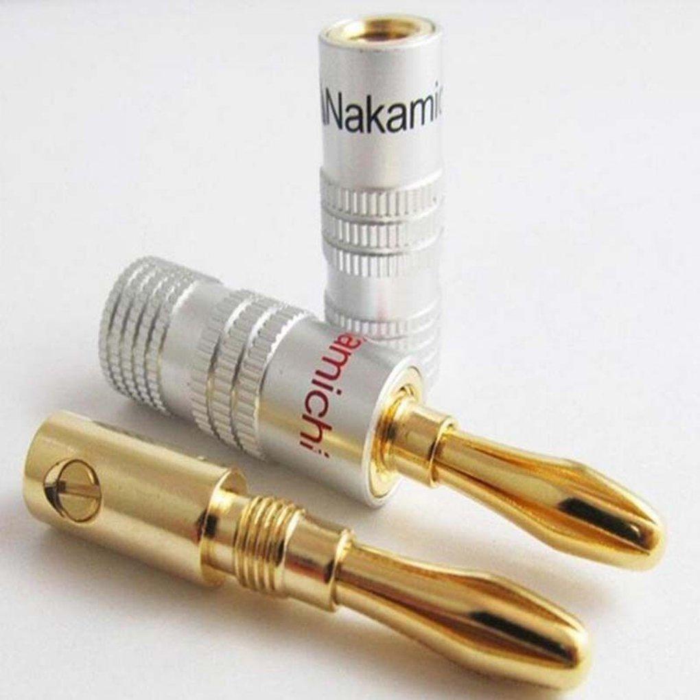 24X Nakamichi Speaker Spina a Banana Fai da Te Jack Audio connettore Rame di Prima Scelta Speaker Plug fgyhty