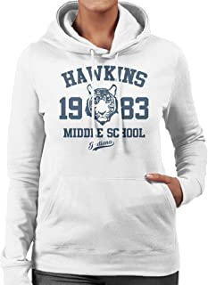 Cloud City 7 Hawkins Middle School Stranger Things Women's Hooded Sweatshirt