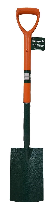 Green Jem Carbon Steel Digging Spade - Orange GT82634