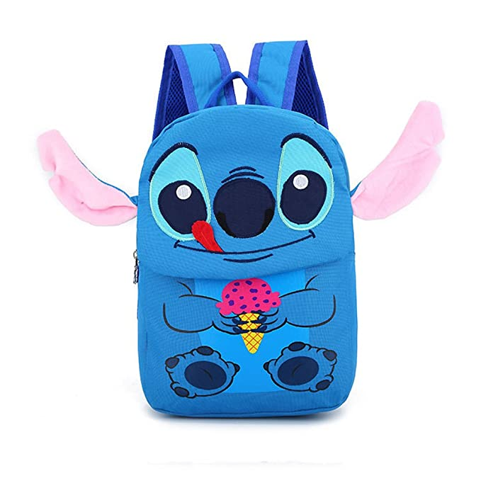 YOUNELO Boys Girls Baby New Cute 3D Lilo Stitch Canvas School Bag Backpack Rucksack Travelling