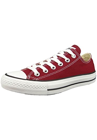840642dbcecf Converse Womens All Star Low Top Red Canvas Trainers 6 US
