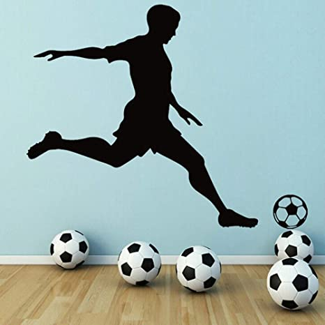 SLQUIET Funny football boys Pegatinas de pared Decoración para el ...