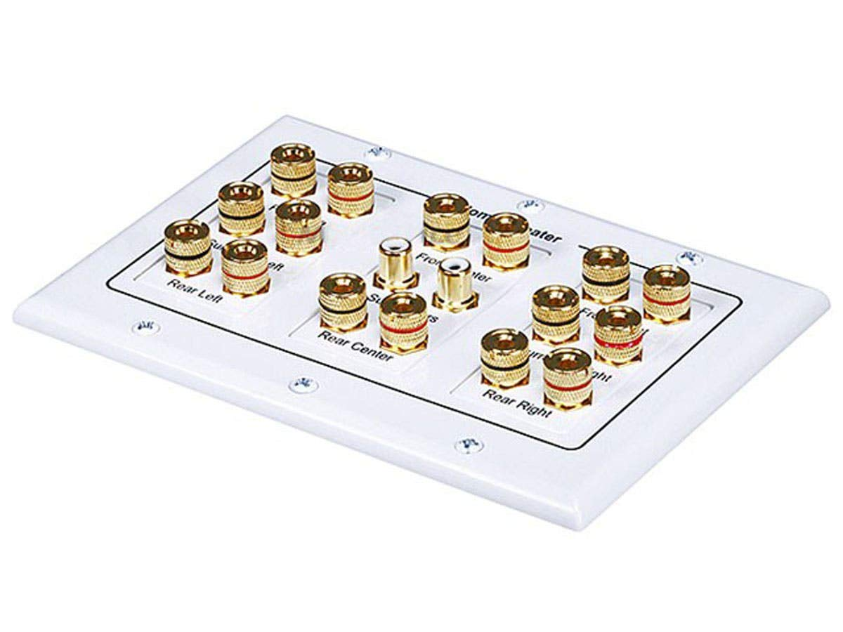 Monoprice 3-Gang 8.2 Surround Sound Distribution Wall Plate