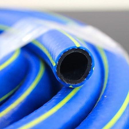 Mangueras de jardín 10 Pies / 50 Pies / 100 Pies De PVC Flexible Reforzado Manguera Azul, Manguera De Agua De Jardín Resistente para Riego De Jardín De Mascotas De Coche De Césped: Amazon.es: Hogar
