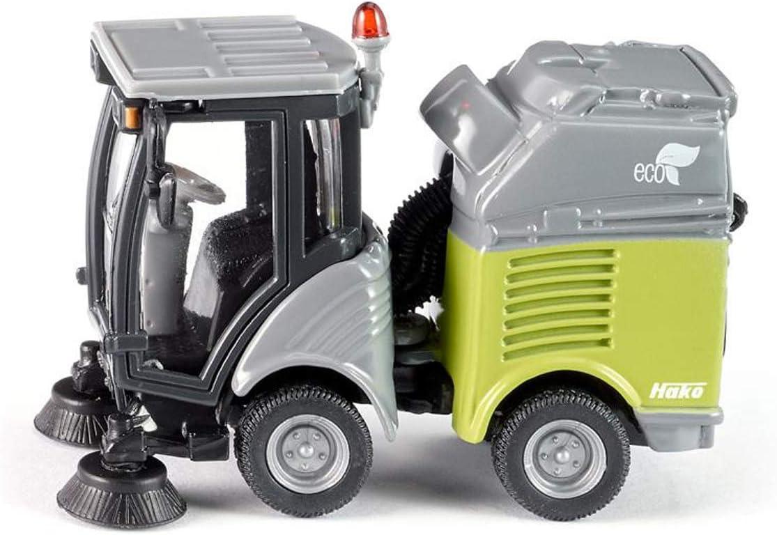 siku 2936 Barredora con contenedor, Articulación móvil, 1:50, Metal/Plástico, Gris/Verde