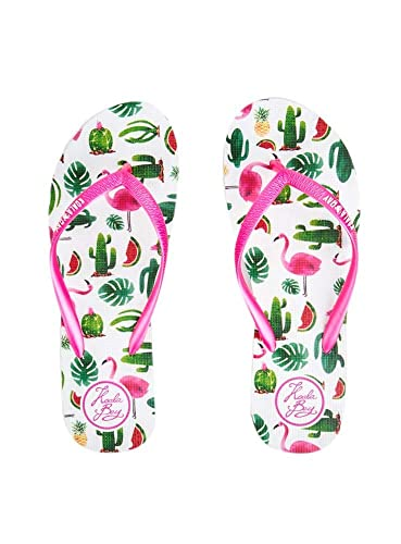 shop best sellers detailed pictures classic KOALA BAY - White Waikiki Flip Flop: Amazon.co.uk: Shoes & Bags