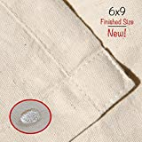 Drop Cloth Tarp Art Supplies - Melca - Be Confident You Have The Canvas You Need - 6x9 Finished Size, Seams Only On The Edges, New Unmarked Fabric, 100% Cotton Duck Fabric