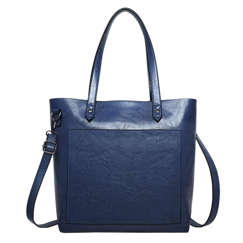 Cloudqi Novel Ladies Multicolor Leather Wild Bag Crossbody Messenger Student Bag Shouldr Bags Blue
