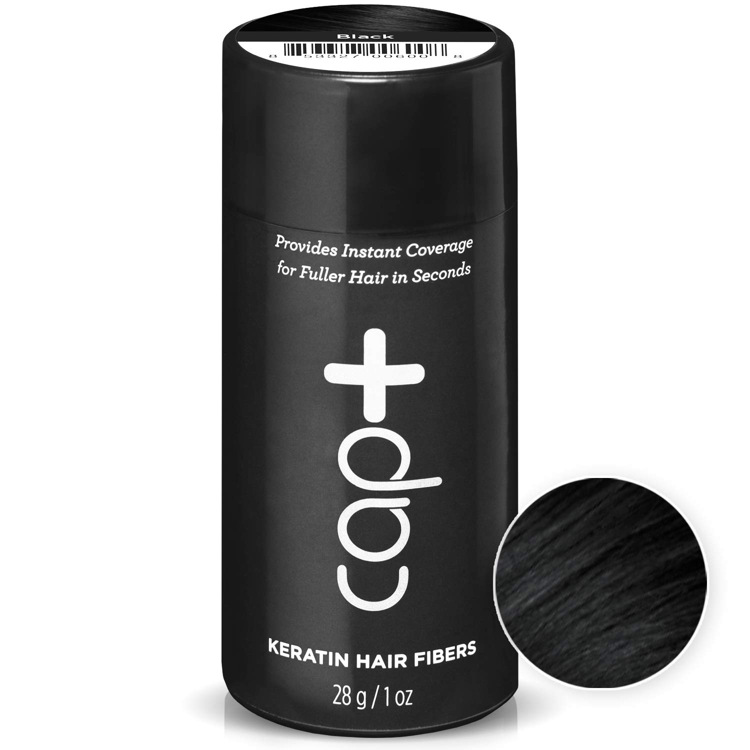 Amazon.com: Cap+ Keratin Hair Fibers (Black) - The Temporary, Quick Fix That Provides Instant Coverage for Fuller Hair in Seconds - By Capillus: Beauty