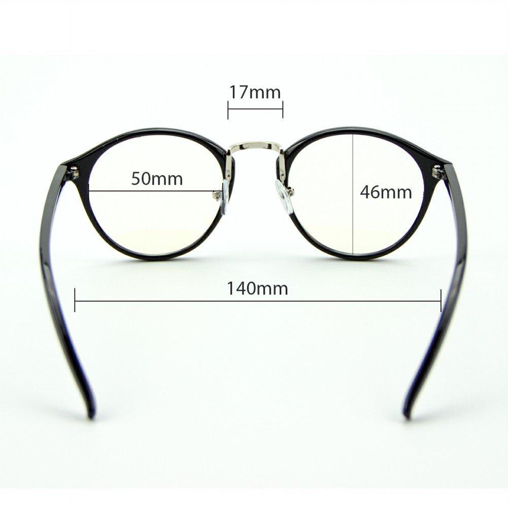 Cyxus transparente linse runden rahmen brillen, gewöhnliche gläser ...