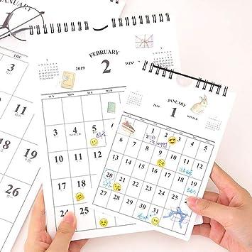Calendario 2019 simple calendario creativo de escritorio ...
