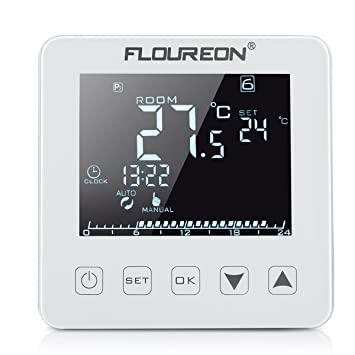 Floureon Raumthermostat Thermostat elektrische Heizung Touchscreen ...