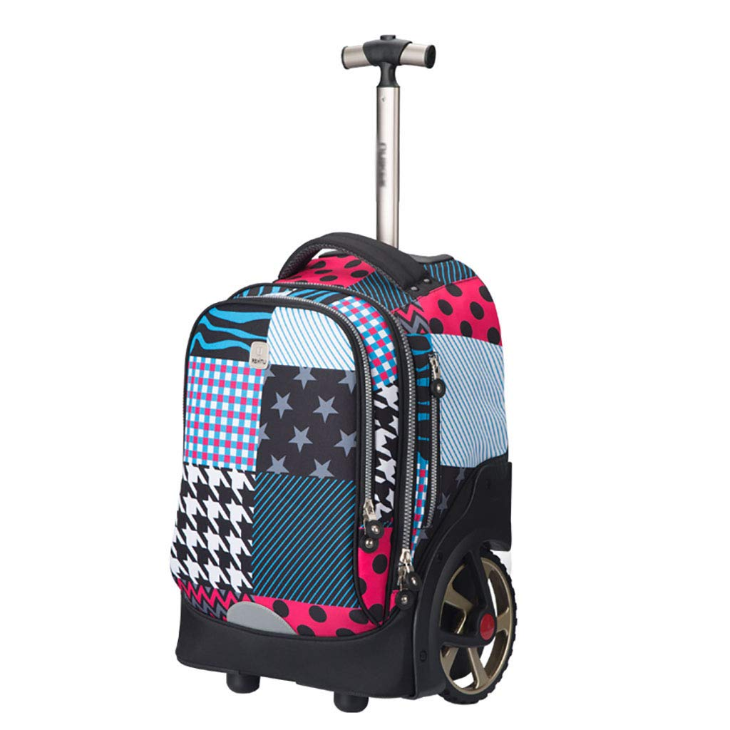 トロリーバックパックホイルラップトップカレッジバックパック、ローリングスクールバッグ、ビジネスバックパック、旅行のバックパックをウィールドローリングバックパック B07NMTND2H