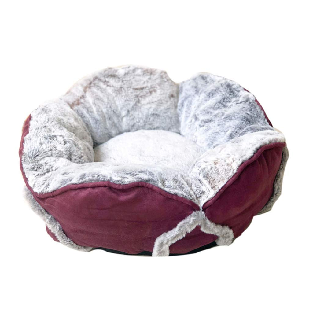 Pet bed Warm Cat and Dog Bed Bud Small Round Sleeper Plush Mattress Keep Warm Pet Products for Small Dog and Cat Removable Cover