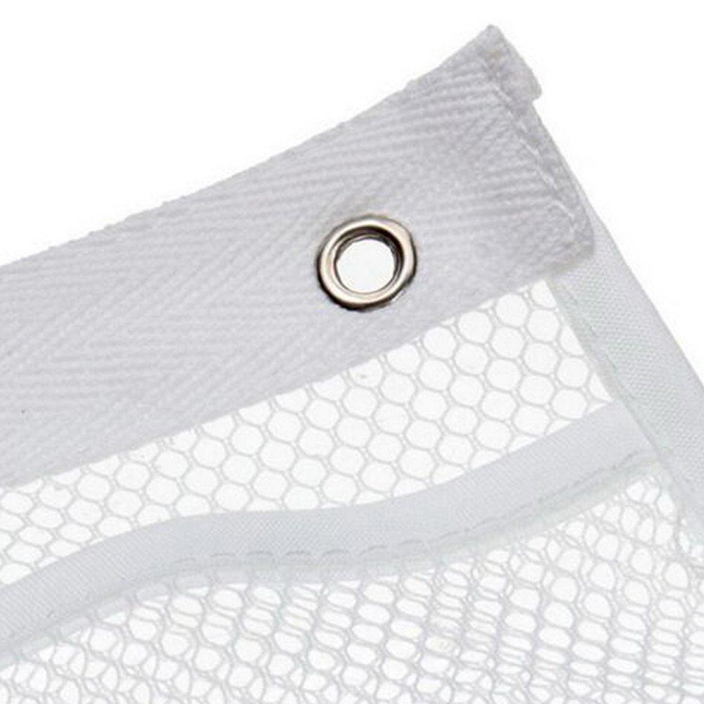 4 Hooks Quick Dry Storage Bathroom Accessories with 6-Pocket WODE Shop Hanging Mesh Pockets Shower Organizer