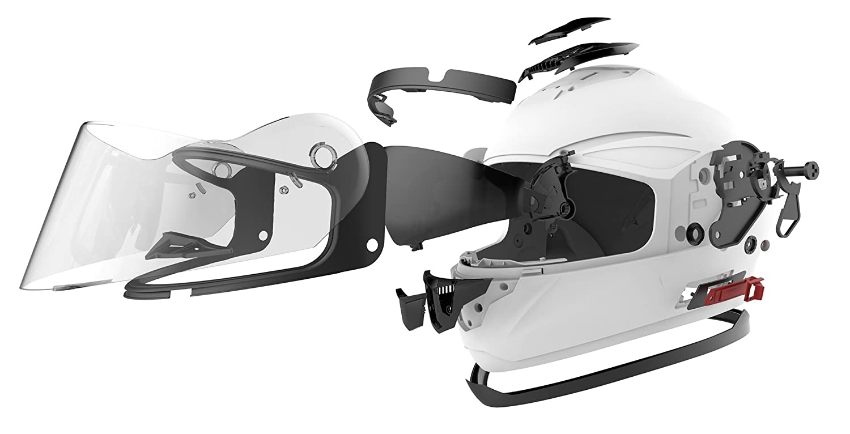 Negro Mate-M YEMA Casco Moto Integral ECE Homologado YM-831 Casco de Moto Scooter para Mujer Hombre Adultos con Doble Visera
