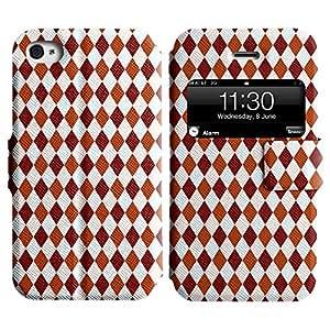LEOCASE simpático personaje Funda Carcasa Cuero Tapa Case Para Apple iPhone 4 / 4S No.1006502