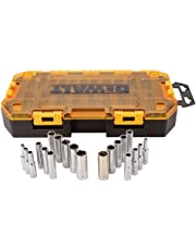 DEWALT DWMT73811  Tool Kit 1/4'' Drive Deep Socket Set, 20 Piece