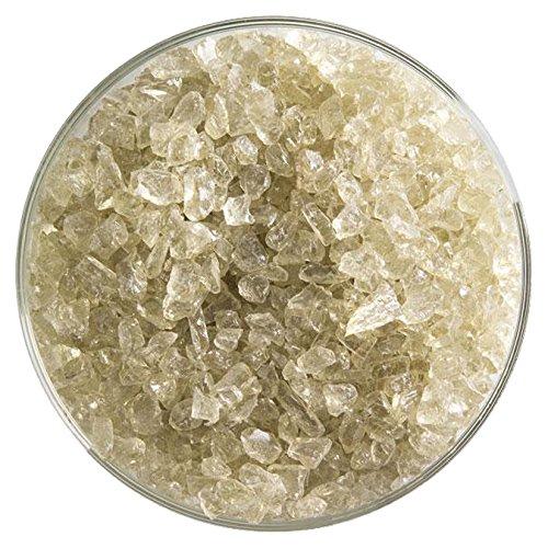 Olive Smoke Tint Transparent Coarse Frit - 4oz - 90COE - Made From Bullseye Glass ()