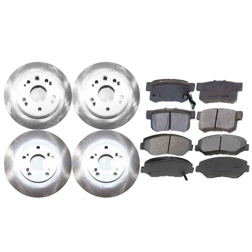 Prime Choice Auto Parts SMK9145023 Set of Front and Rear Brake Rotors & Semi-Metallic Brake Pads