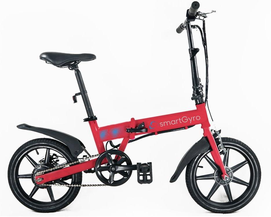 SMARTGYRO Ebike Red - Bicicleta Eléctrica, Ruedas de 16 ...