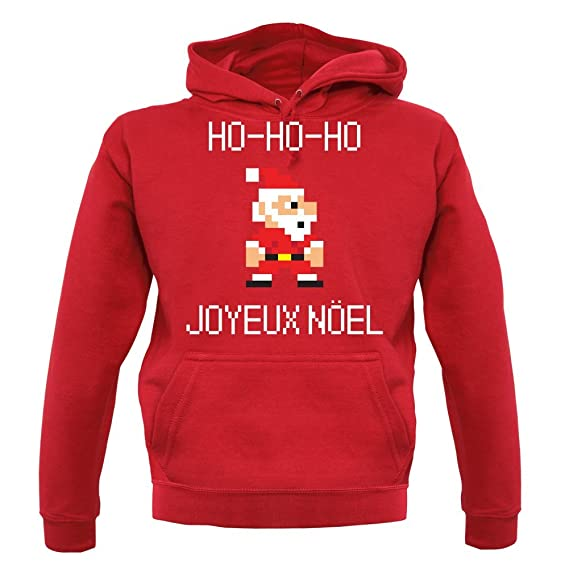 33dd52cd77fd HOHO Joyeux Noël - Unisex Sweat Pull - Rouge - XXL  Amazon.fr ...
