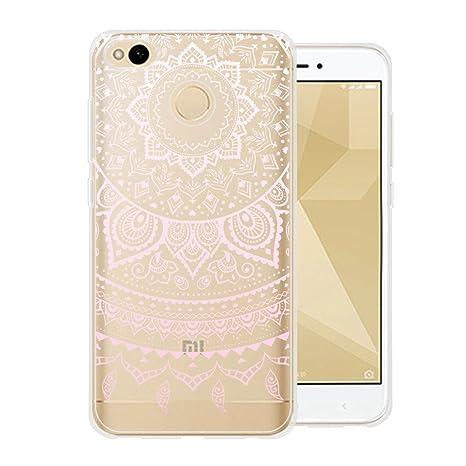 Para Xiaomi Redmi 4X Carcasa , YIGA Moda Rosa Dreamcatcher Transparente TPU Gel Cubierta De Silicona Suave Funda Tapa Case Cover para Xiaomi Redmi 4X
