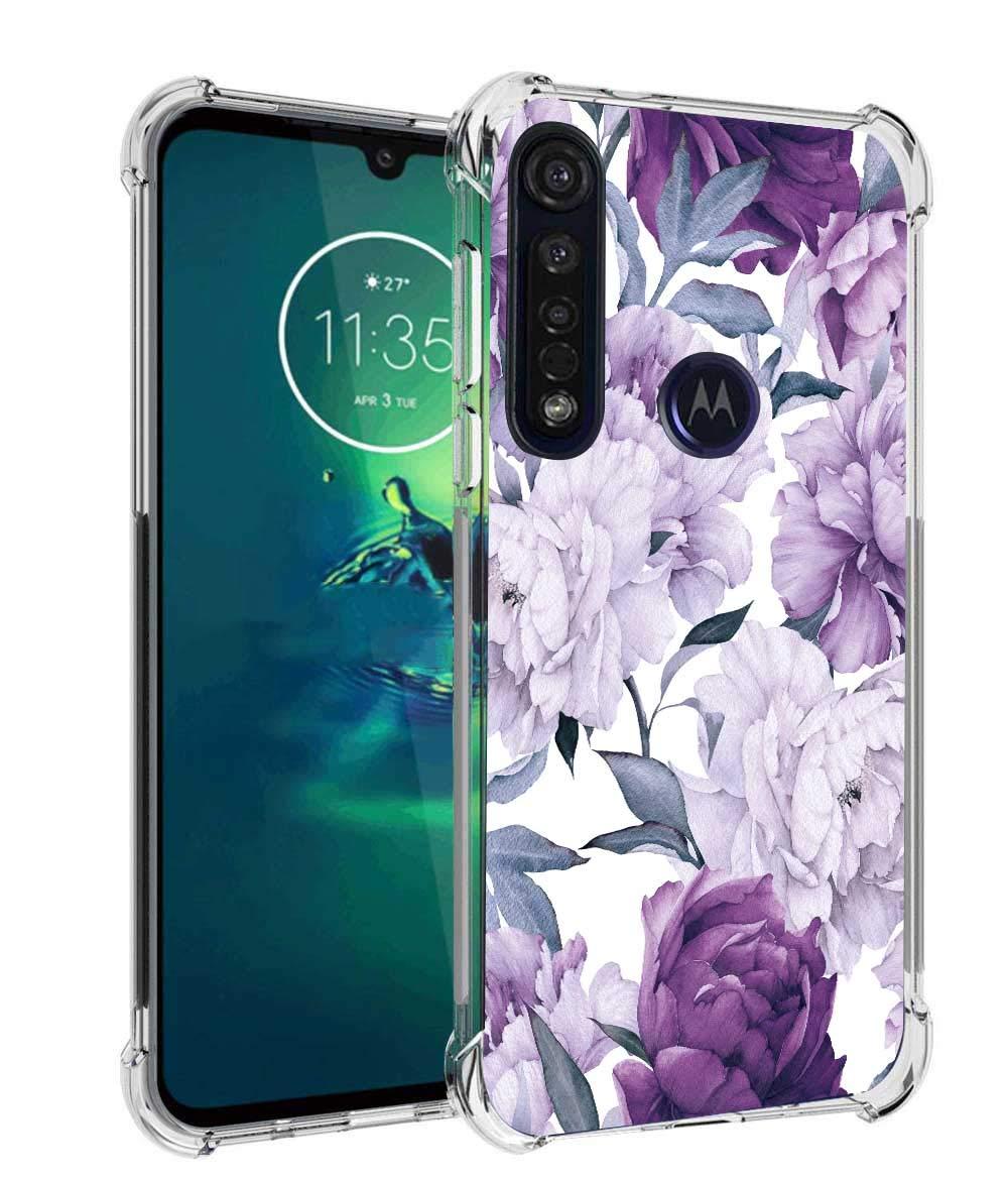 Funda De Flores Para Motorola G8 Plus, Purpura