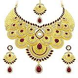 Sukkhi Elegant Gold Plated AD Necklace Set For Women