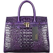 PIJUSHI Women Purses And Handbags Crocodile Top Handle Satchel Bags Designer Handbags