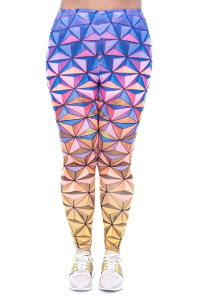 cfe520c564 World of Leggings 3D Color Prism Leggings - Plus Size at Amazon ...