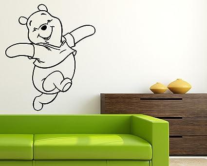 Happy Winnie Pooh Wall Mural Walt Disney Movie Vinyl Poster Winnie