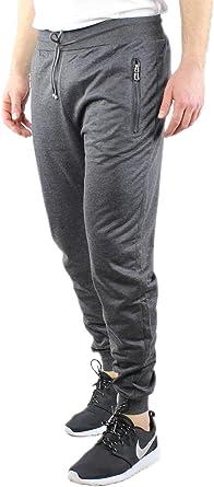 Pantalón de chándal para hombre de algodón ligero, primavera, verano, azul, negro, gris, pantalón de primavera elástico en cintura y tobillos: Amazon.es: Ropa y accesorios