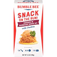 BUMBLE BEE Snack on the Run! BBQ Chicken with Crackers Kit, 3.5 Ounce Kit (Pack of 12), High Protein Snack Food, Canned…