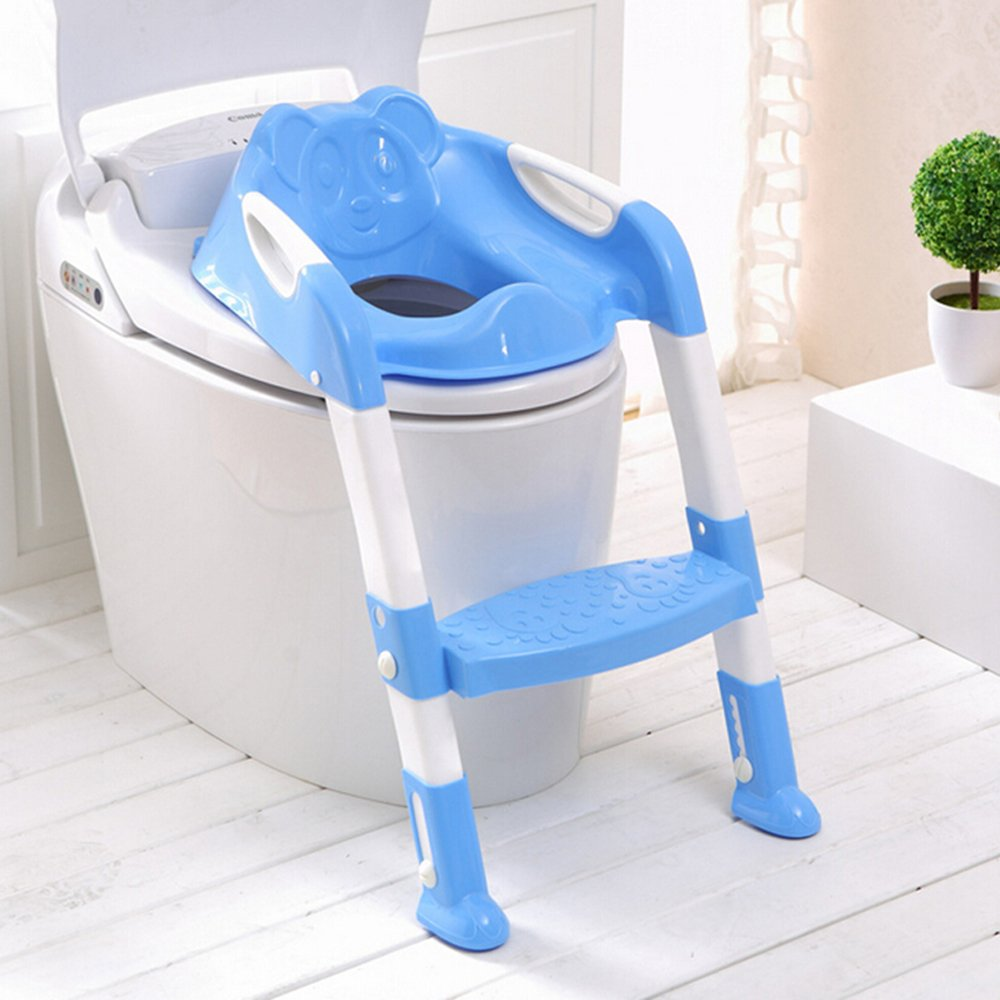Amazon.com: genmine Potty Asiento para inodoro con escalera ...