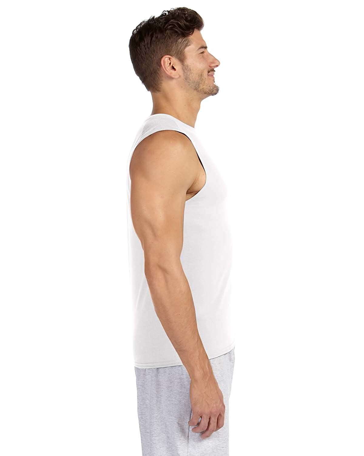 Gildan Men Activewear Sport Running Crew Neck Sleeveless Adult Tank Top Shirt UK