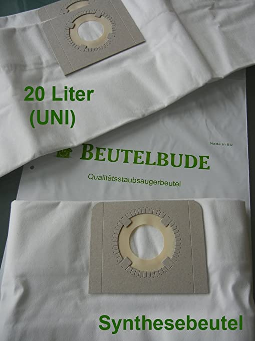 10 bolsas para aspirador Parkside pnts 1300/... (Uni), universal ...