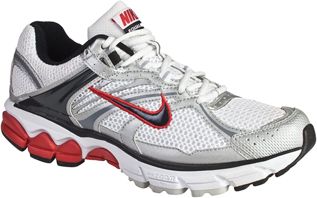 Nike Zoom Equalon + 4 Running Shoes (9) White- Black- Red: Amazon.es: Zapatos y complementos