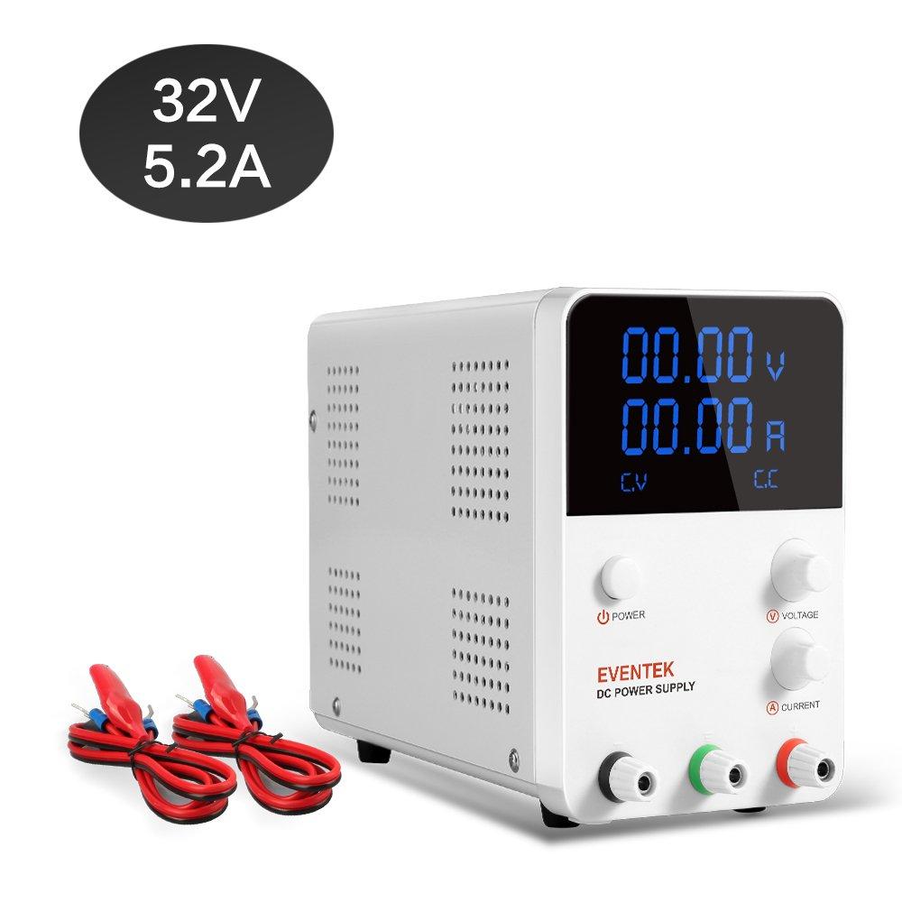 Dc Power Supply Variable Eventek 0 32v 52a Regulated Adjustable