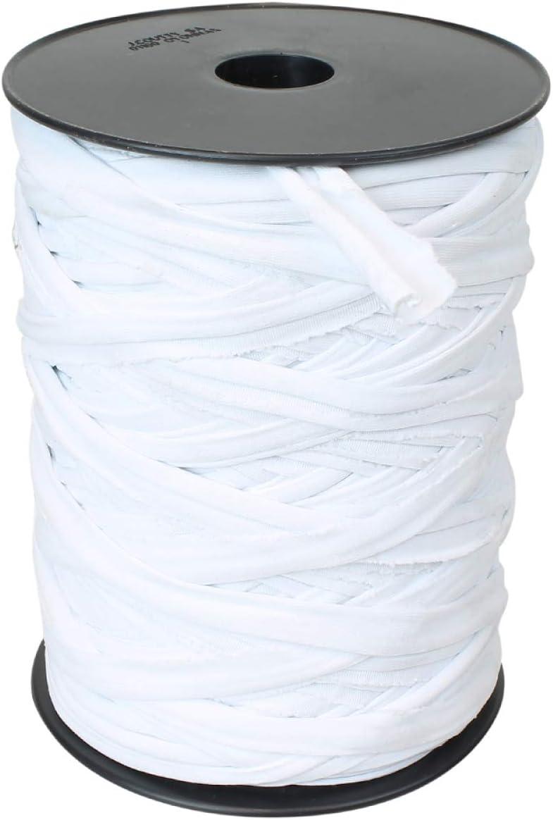 Linxor France /® Bobine de lien en lycra 90 m Blanc Norme CE