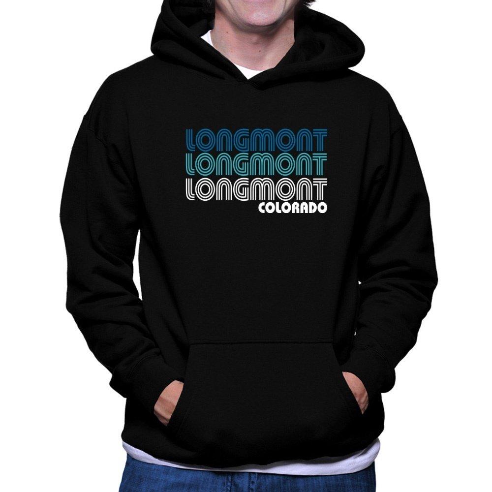 - Teeburon Longmont retro retro retro color Hoodie d3c9c8