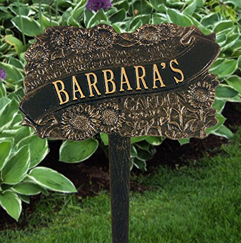 Whitehall Products Personalized 1 Line TLC Garden Plaque