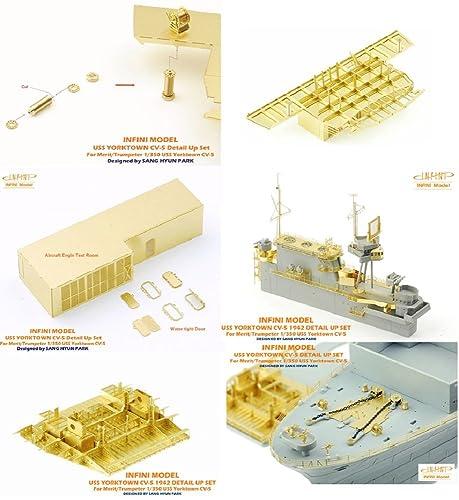 インフィニモデル 1/350 IMシリーズ アメリカ海軍 航空母艦 CV-5 ヨークタウン 1942年用 ディテールアップセット ME社用 プラモデル用パーツ IM53502