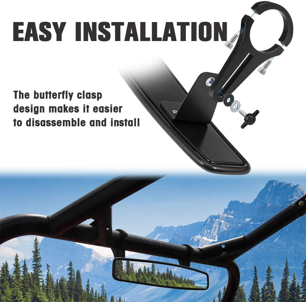 Polaris RZR Rear View Mirror 800 900 S XP 1000 Replacement 2008-2016 1.75 Clamp