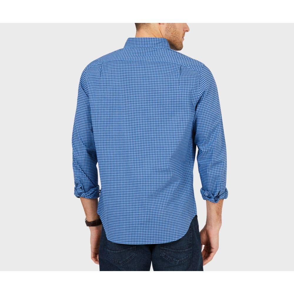Nautica Mens Classic Fit Stretch Plaid Long Sleeve Button Down Shirt