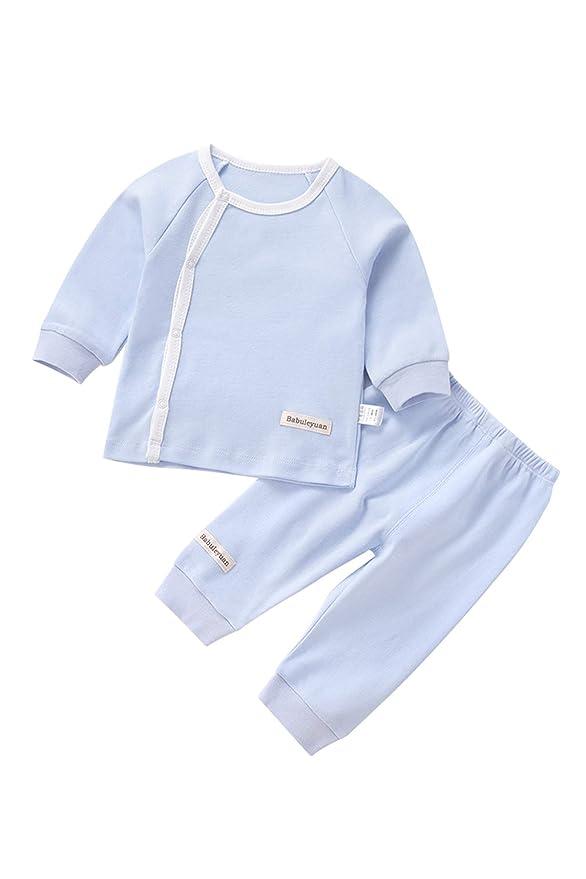 Amazon.com: Babuleyuan Baby 100% Cotton 2-Piece Long Sleeve Pajama Set Baby Sleepwear: Clothing