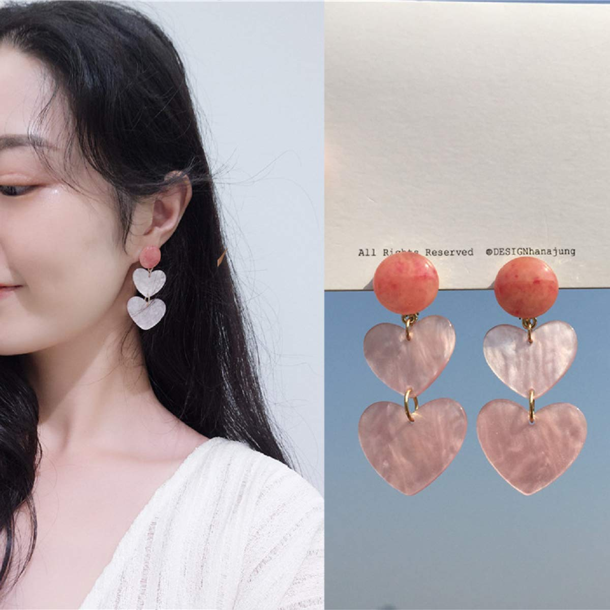 Acrylic love Great Gifts for Women Girls Fashion Simple Style Earring JXVLUYE Colors Earring for Women Girls