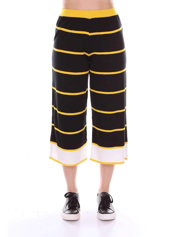 Akep Women's KE755BLACK Black Viscose Pants